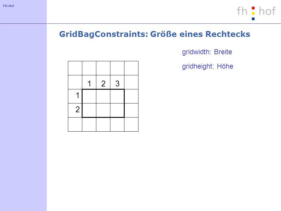 GridBagConstraints: Größe eines Rechtecks