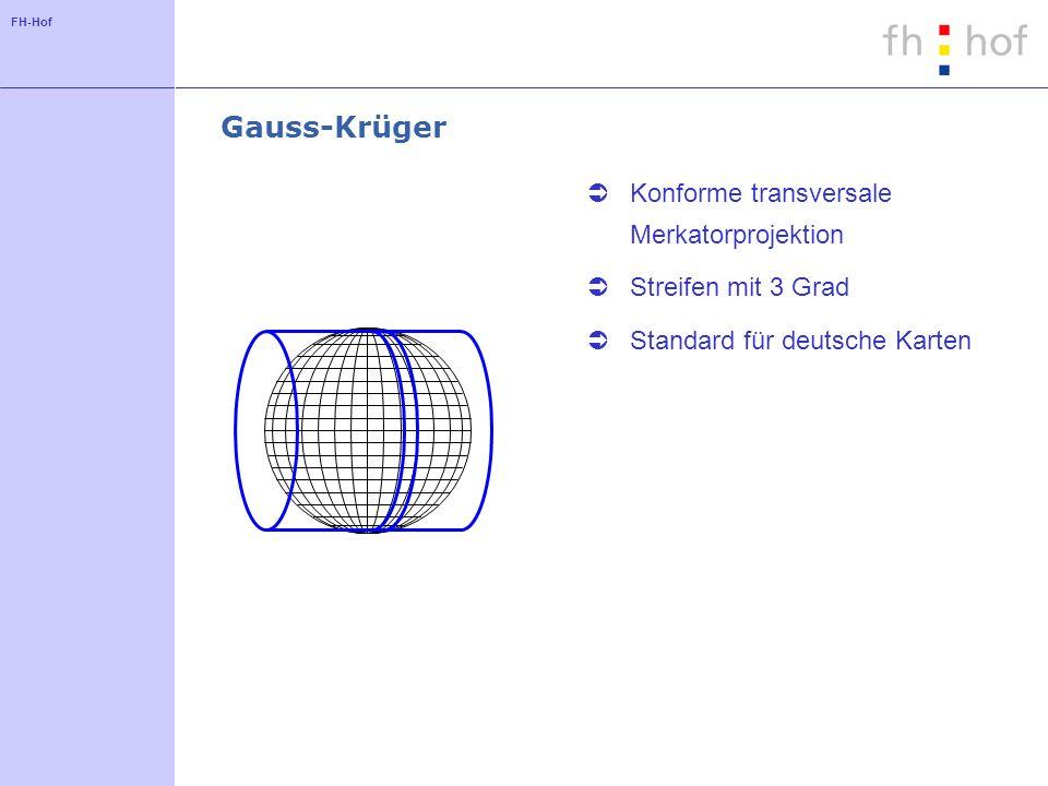 Gauss-Krüger Konforme transversale Merkatorprojektion