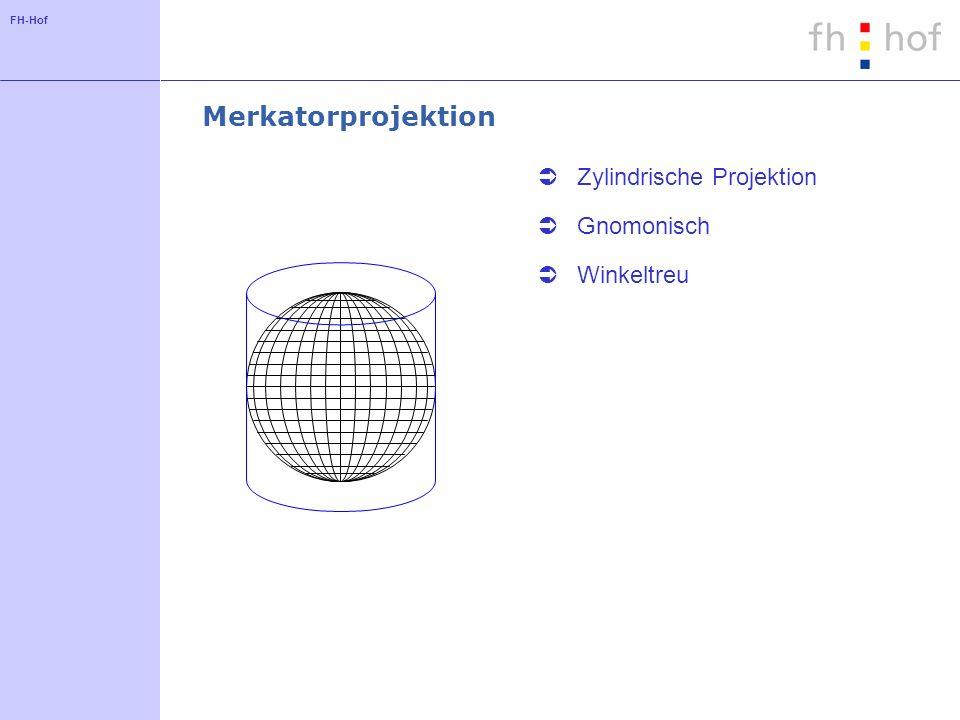 Merkatorprojektion Zylindrische Projektion Gnomonisch Winkeltreu