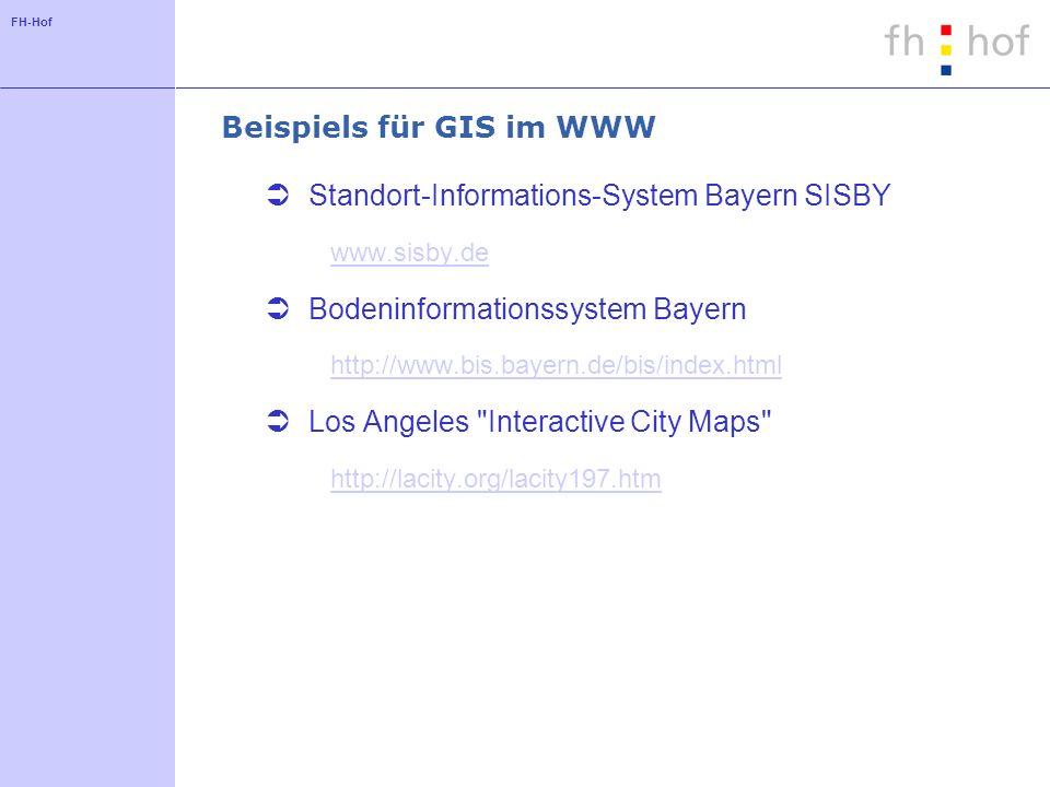 Beispiels für GIS im WWW