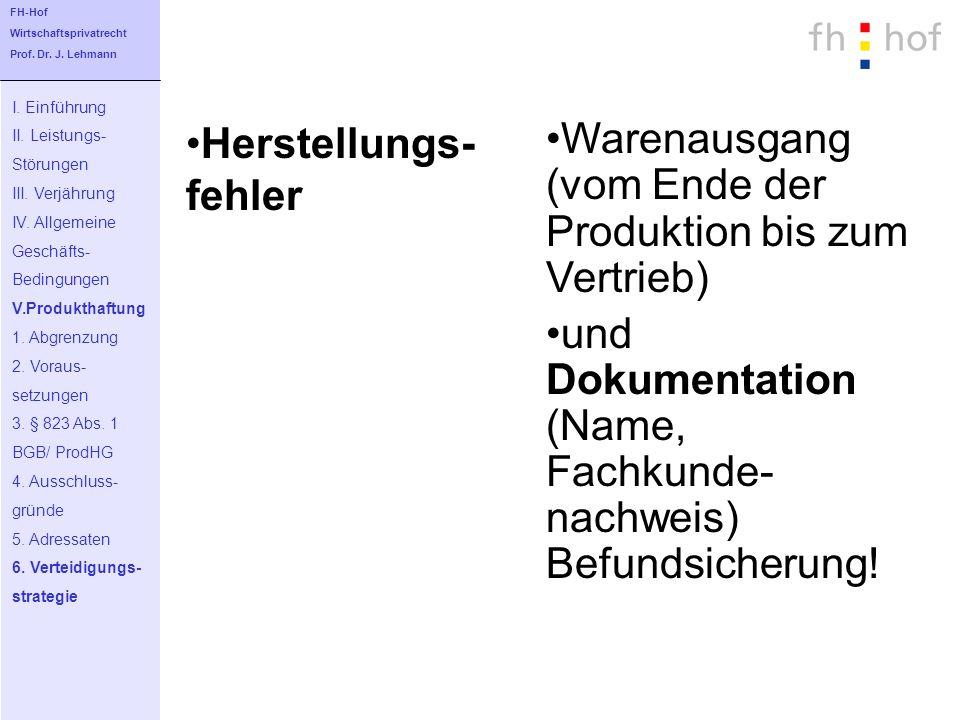 Warenausgang (vom Ende der Produktion bis zum Vertrieb)