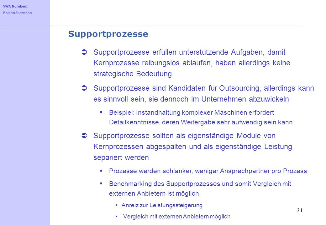 Supportprozesse