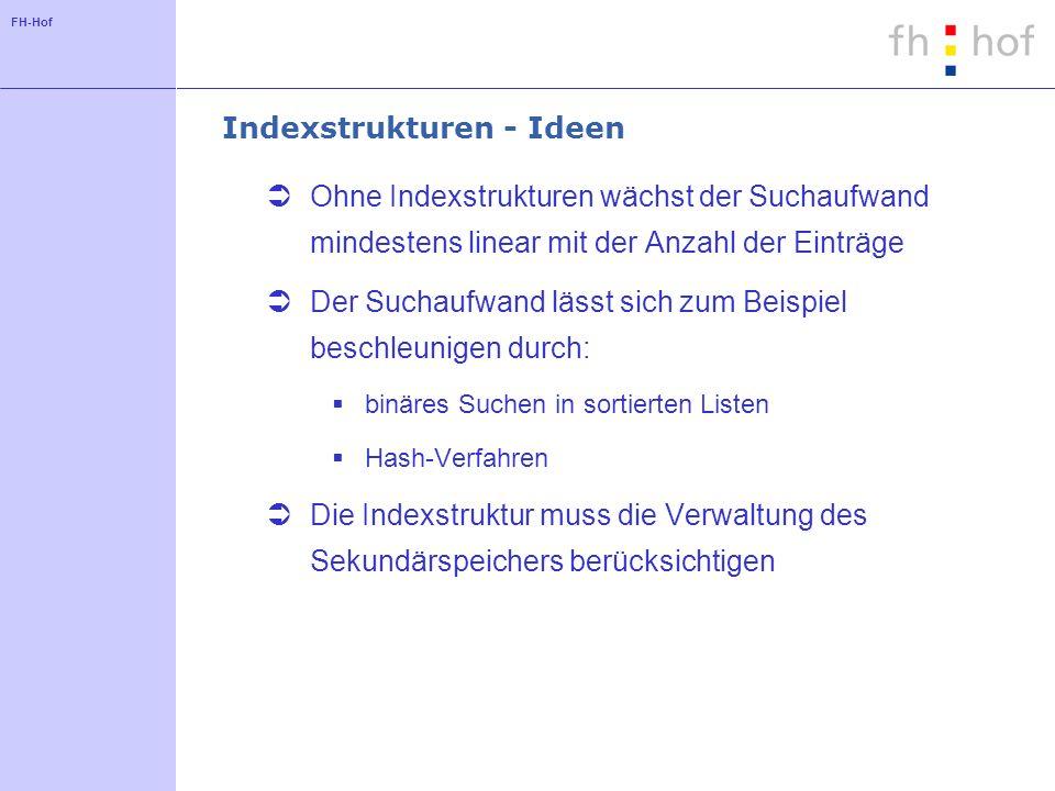 Indexstrukturen - Ideen