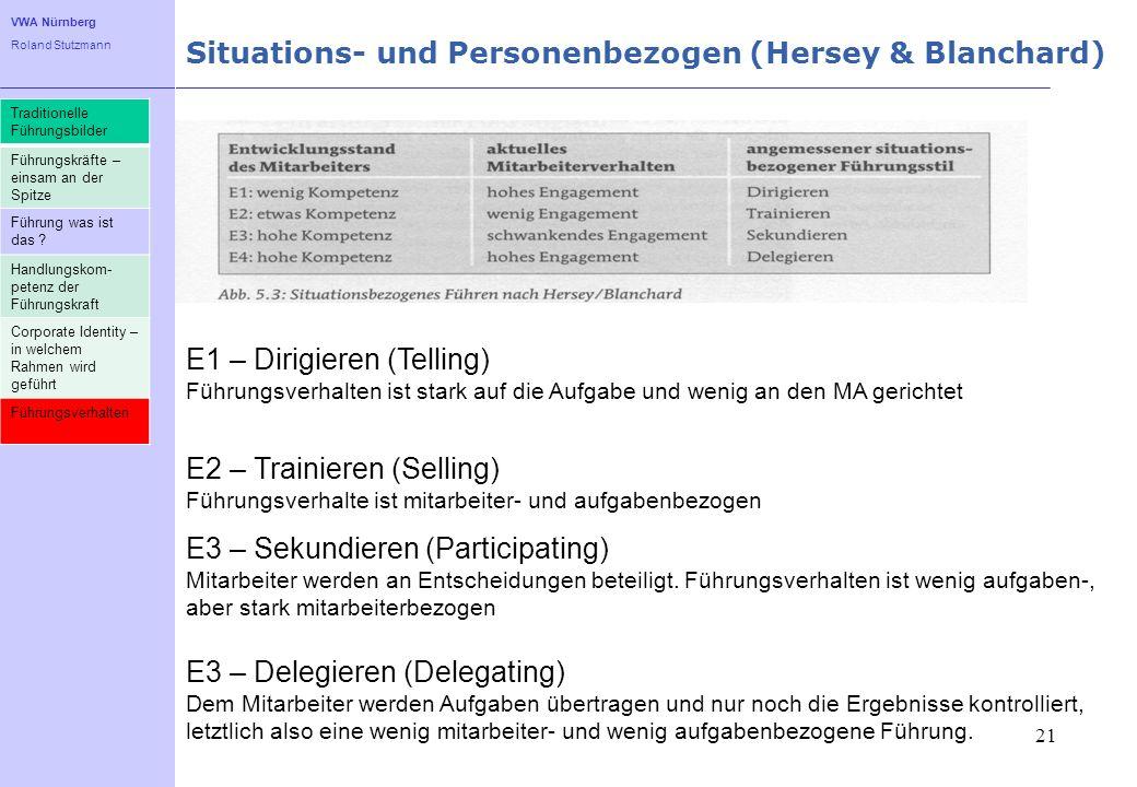 Situations- und Personenbezogen (Hersey & Blanchard)