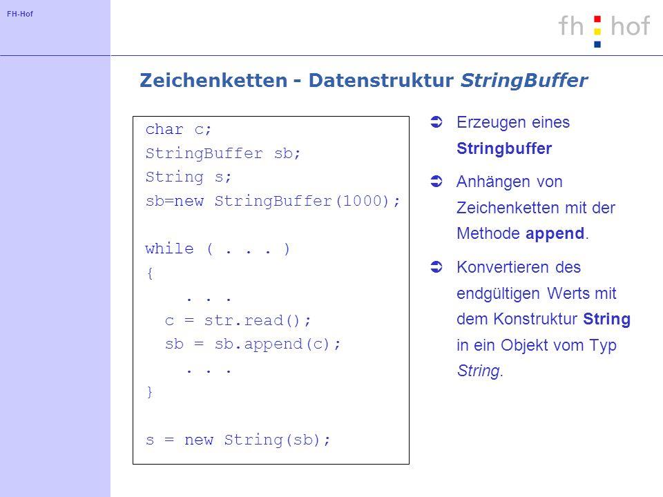 Zeichenketten - Datenstruktur StringBuffer