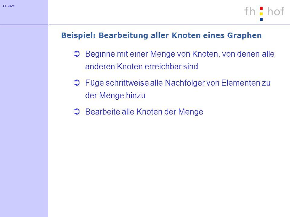 Beispiel: Bearbeitung aller Knoten eines Graphen