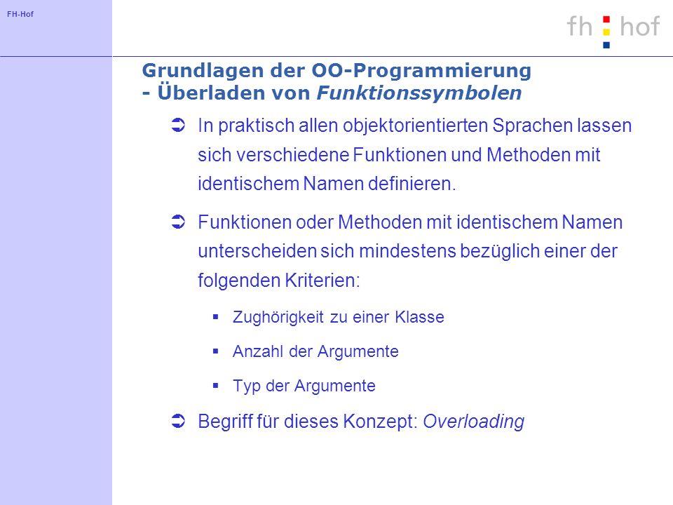 Grundlagen der OO-Programmierung - Überladen von Funktionssymbolen