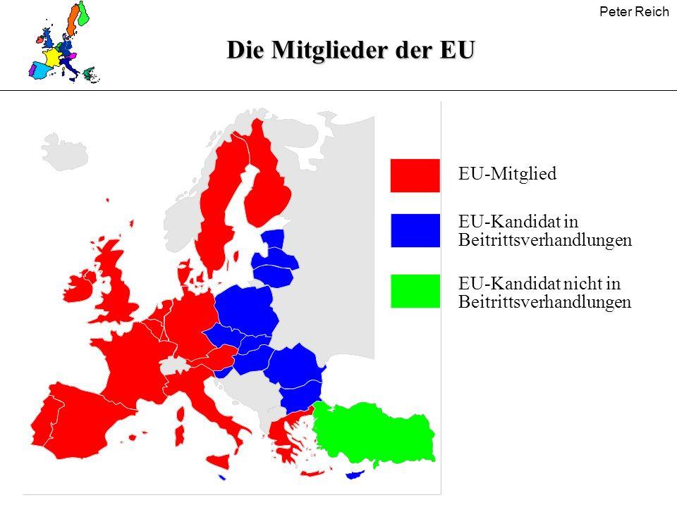 Die Mitglieder der EU EU-Mitglied