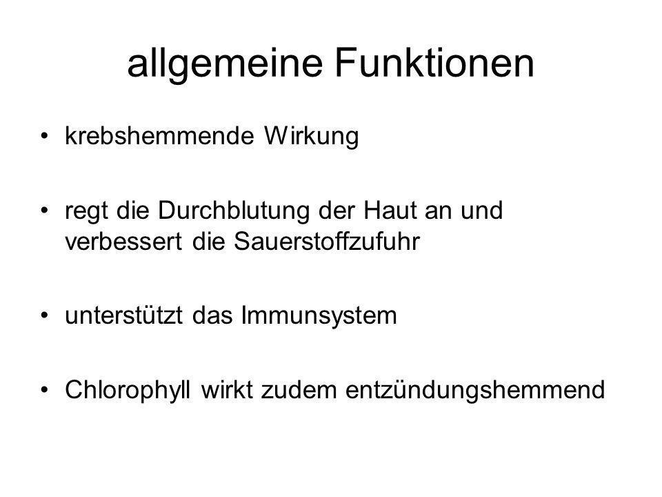 allgemeine Funktionen