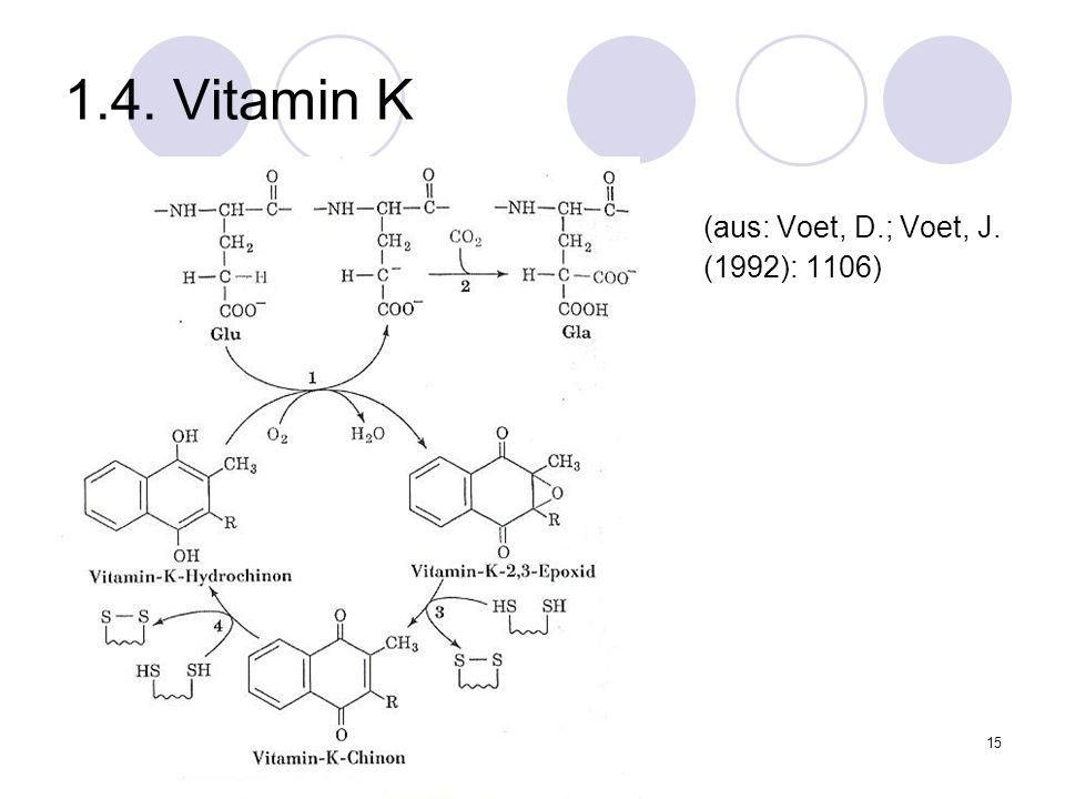 1.4. Vitamin K (aus: Voet, D.; Voet, J. (1992): 1106)