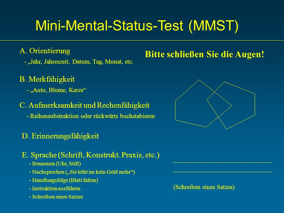Mini-Mental-Status-Test (MMST)