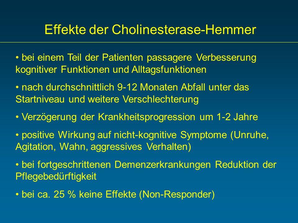 Effekte der Cholinesterase-Hemmer