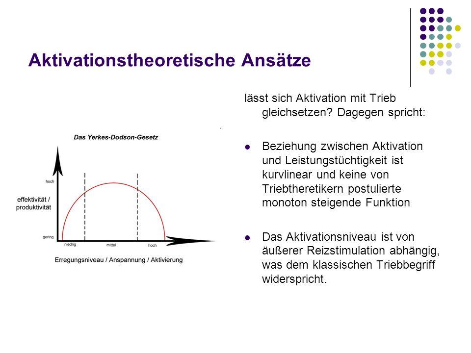 Aktivationstheoretische Ansätze