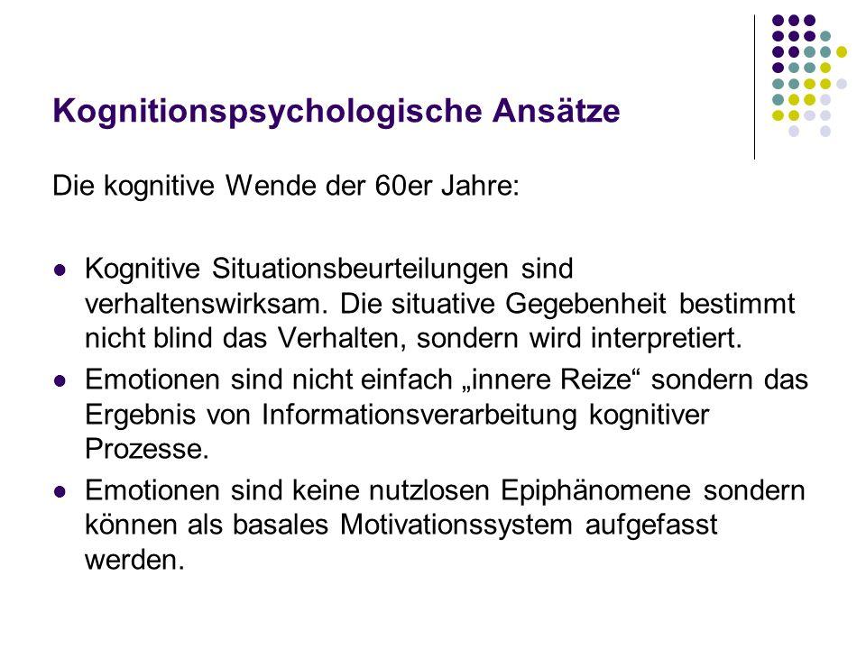 Kognitionspsychologische Ansätze