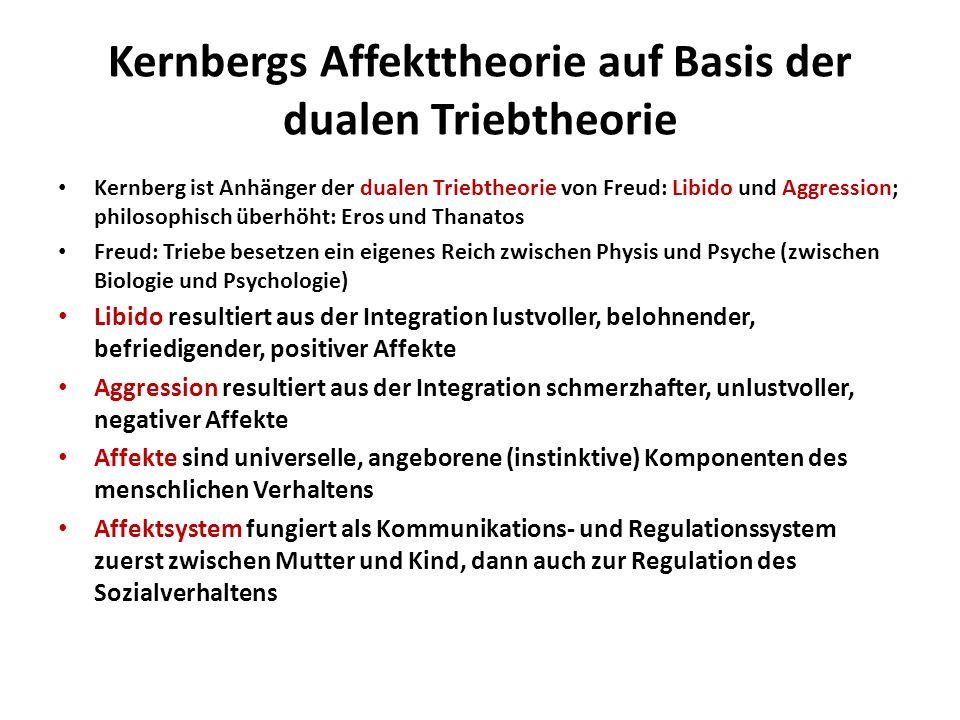 Kernbergs Affekttheorie auf Basis der dualen Triebtheorie