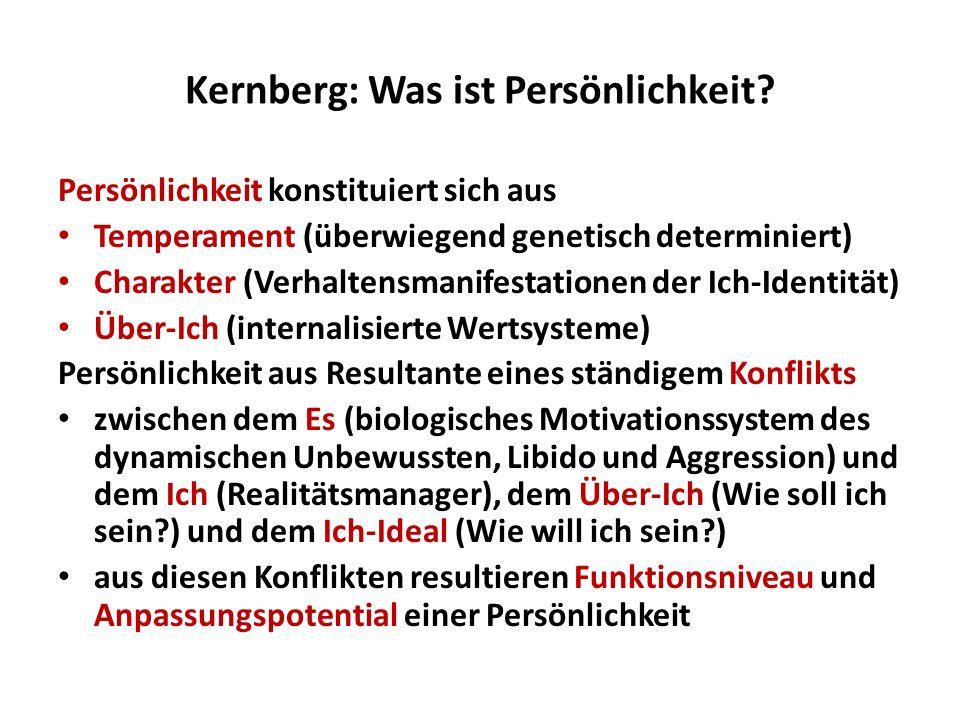 Kernberg: Was ist Persönlichkeit