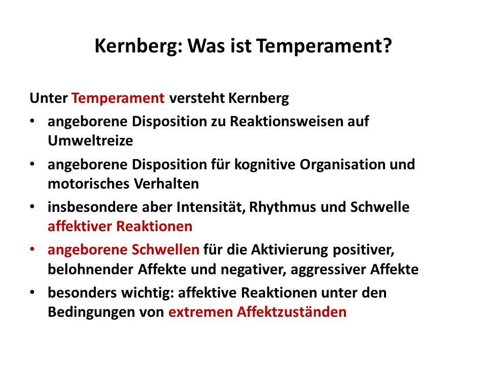 Kernberg: Was ist Temperament