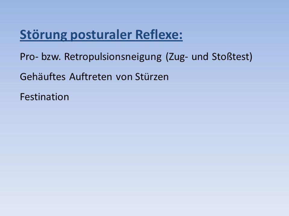Störung posturaler Reflexe: