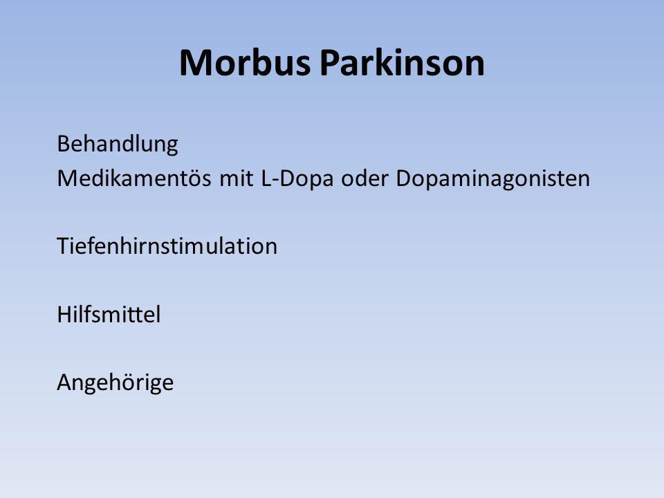 Morbus Parkinson Behandlung