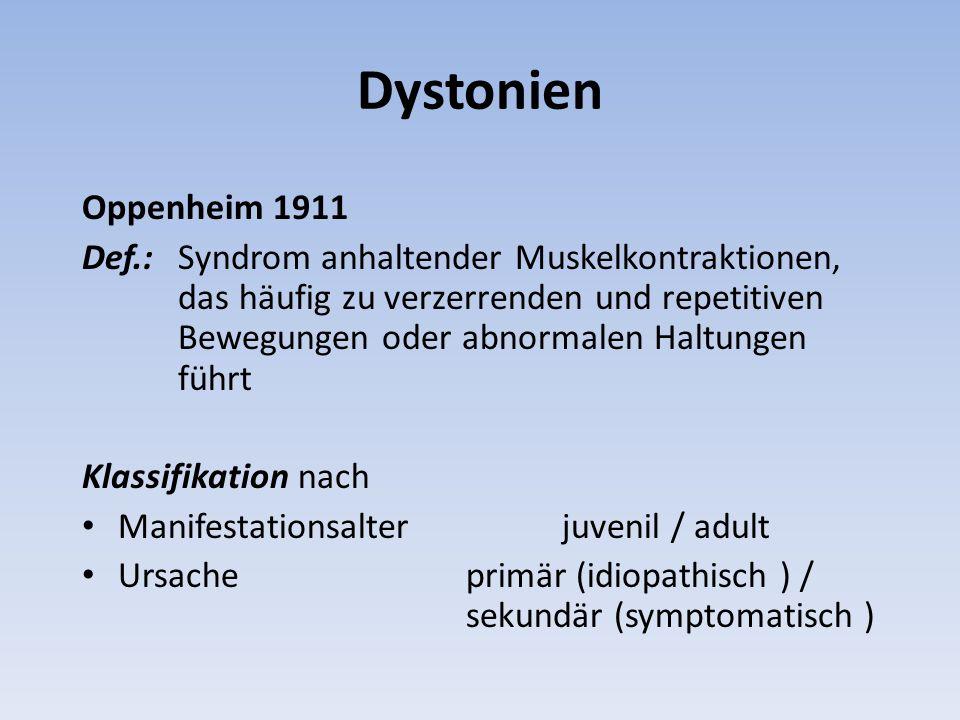 Dystonien Oppenheim 1911.