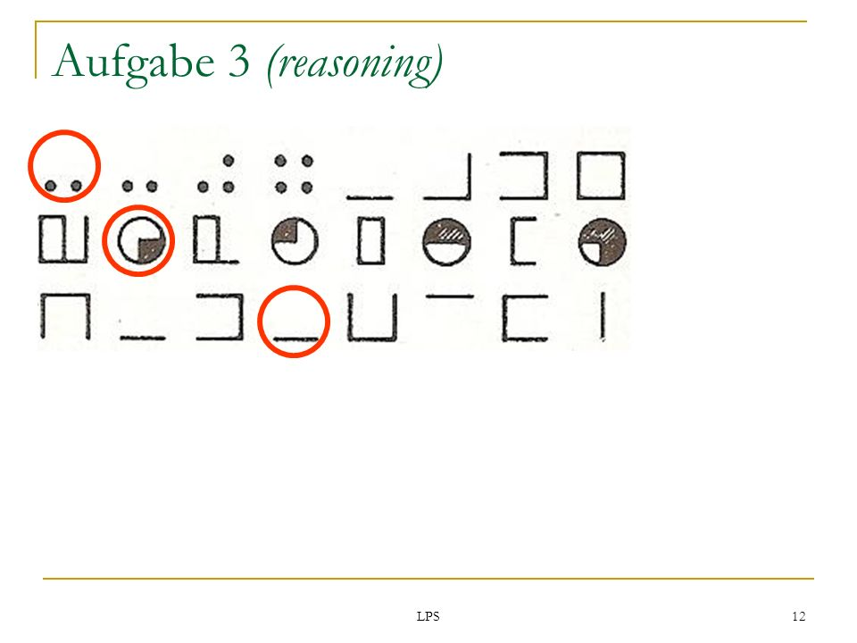 Aufgabe 3 (reasoning) LPS