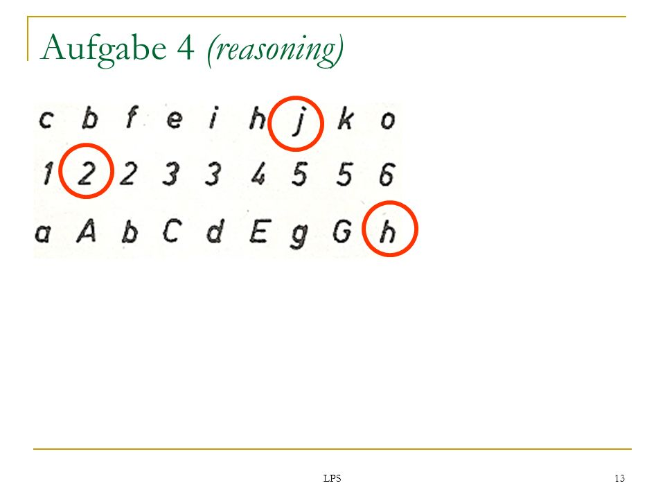 Aufgabe 4 (reasoning) LPS