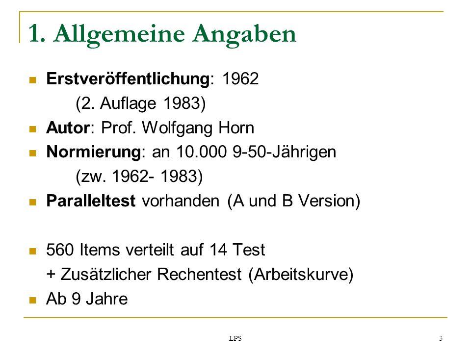 1. Allgemeine Angaben Erstveröffentlichung: 1962 (2. Auflage 1983)