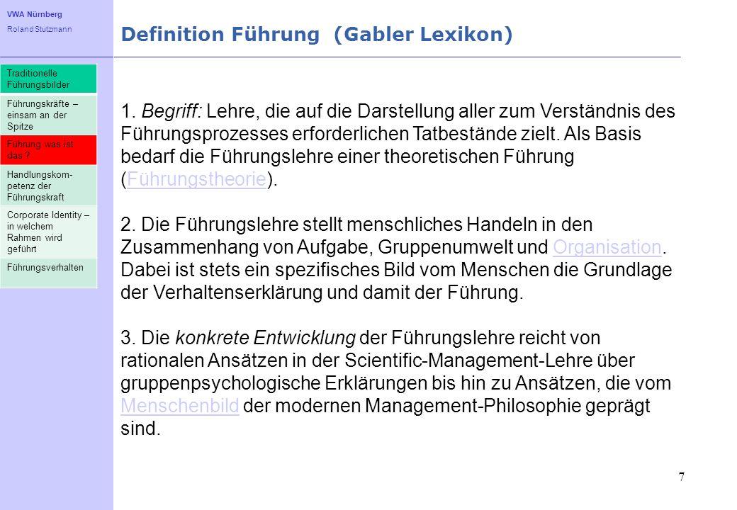 Definition Führung (Gabler Lexikon)