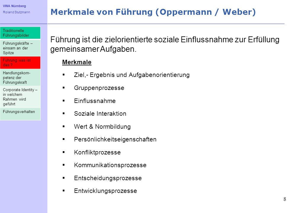 Merkmale von Führung (Oppermann / Weber)