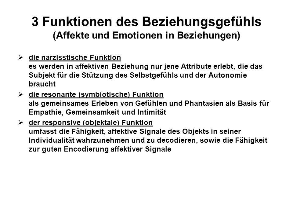 3 Funktionen des Beziehungsgefühls (Affekte und Emotionen in Beziehungen)