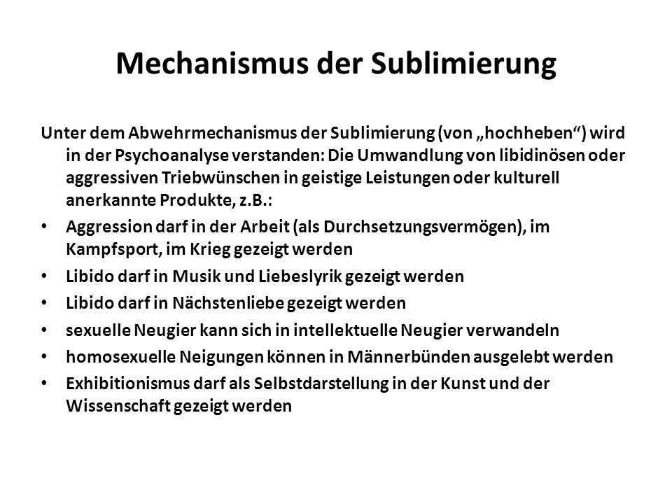 Mechanismus der Sublimierung