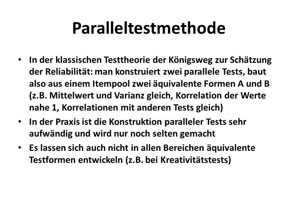 Paralleltestmethode