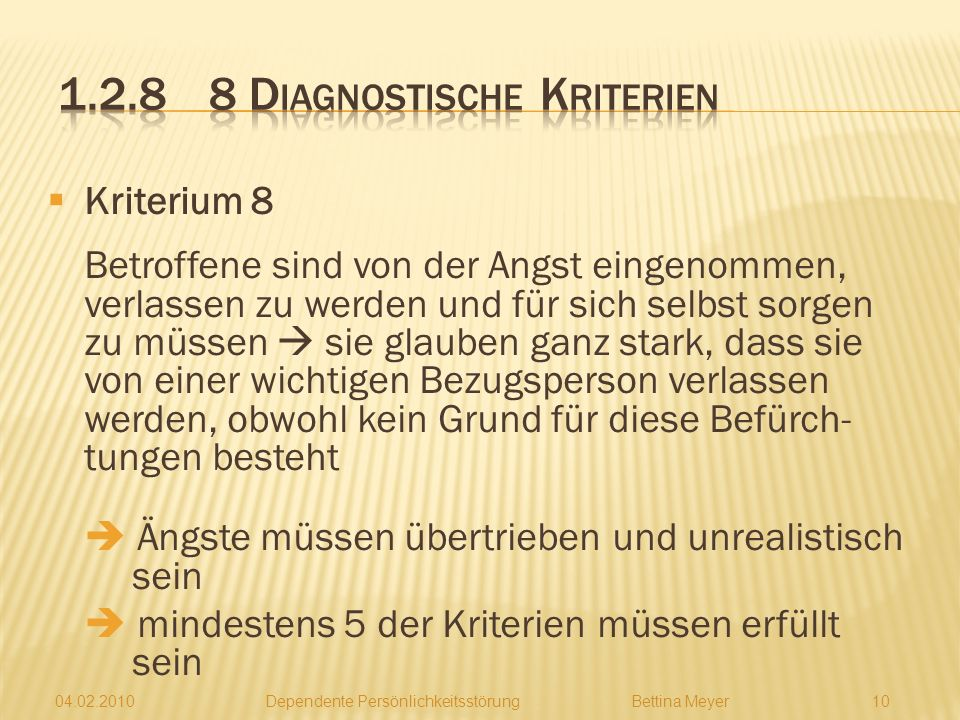 1.2.8 8 Diagnostische Kriterien