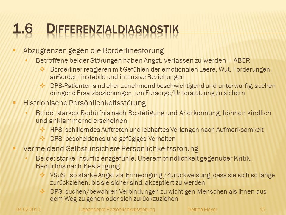 1.6 Differenzialdiagnostik