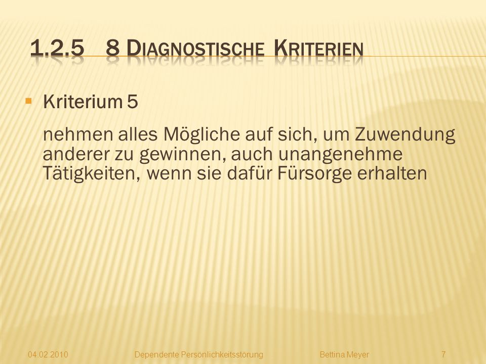 1.2.5 8 Diagnostische Kriterien