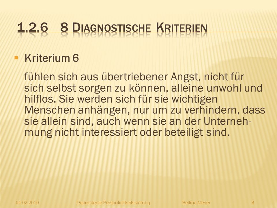 1.2.6 8 Diagnostische Kriterien