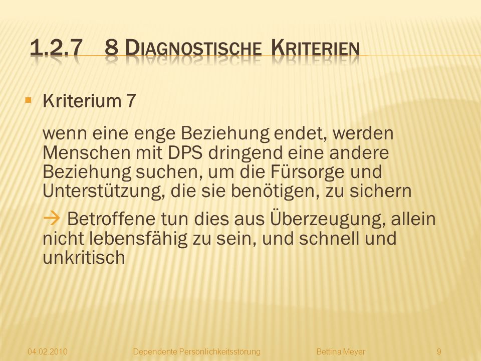 1.2.7 8 Diagnostische Kriterien