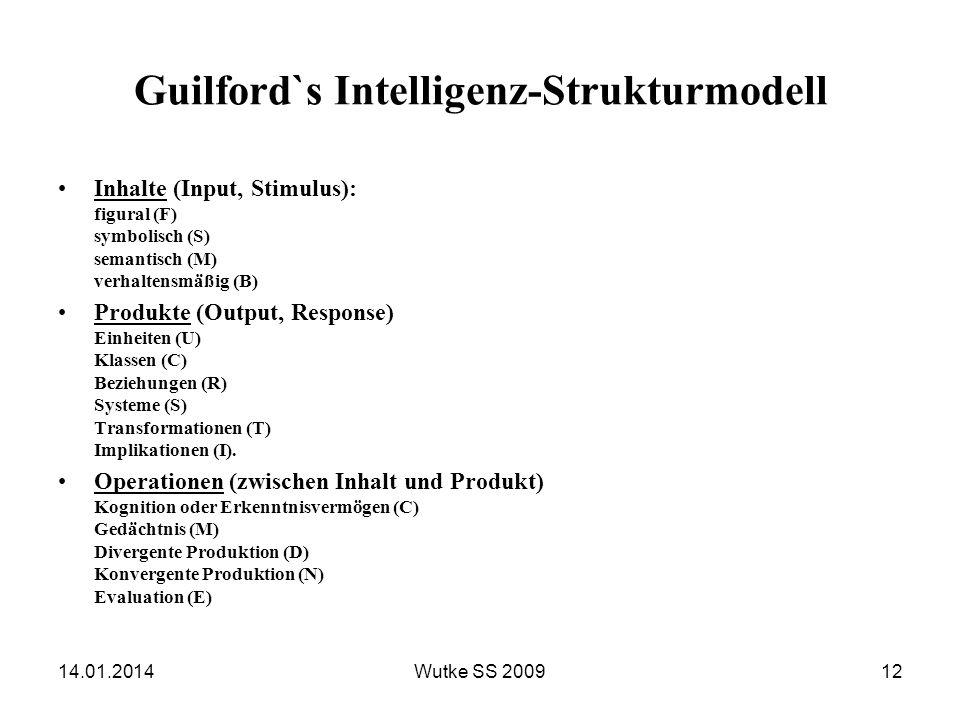 Guilford`s Intelligenz-Strukturmodell