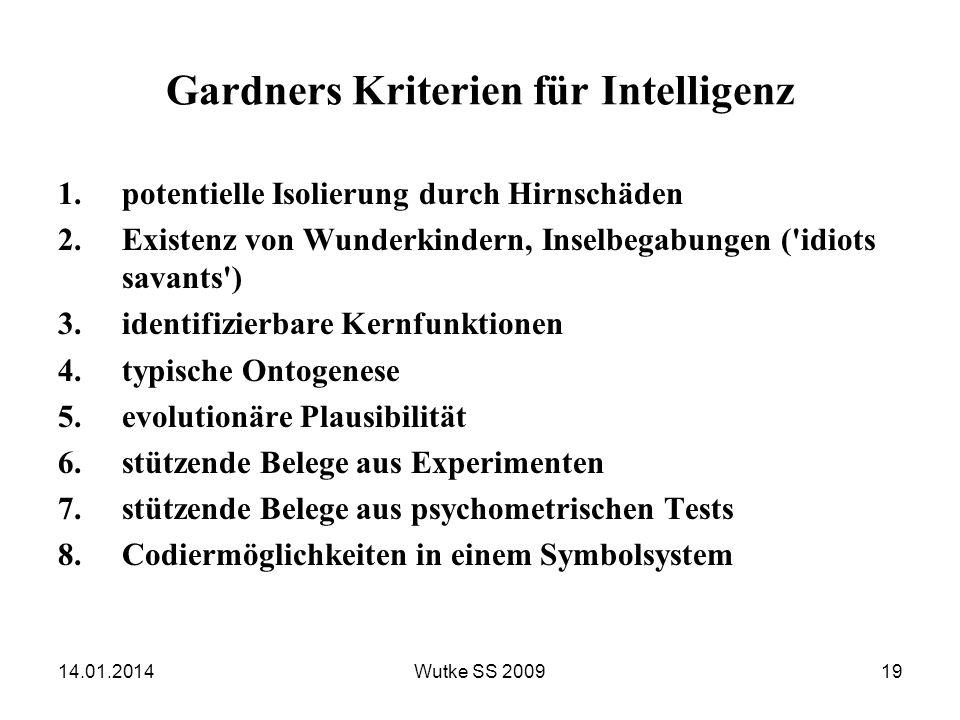 Gardners Kriterien für Intelligenz