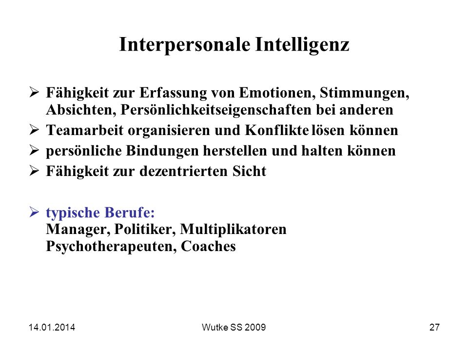 Interpersonale Intelligenz