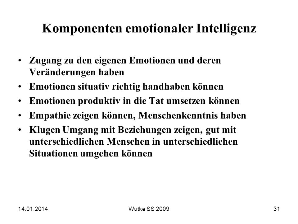 Komponenten emotionaler Intelligenz