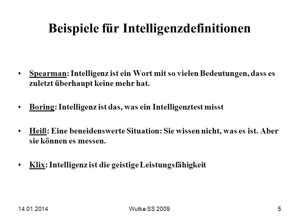 Beispiele für Intelligenzdefinitionen