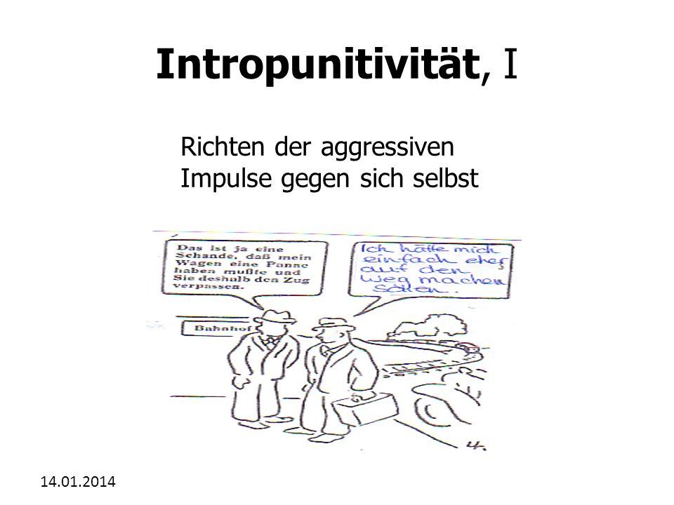 Intropunitivität, I Richten der aggressiven Impulse gegen sich selbst