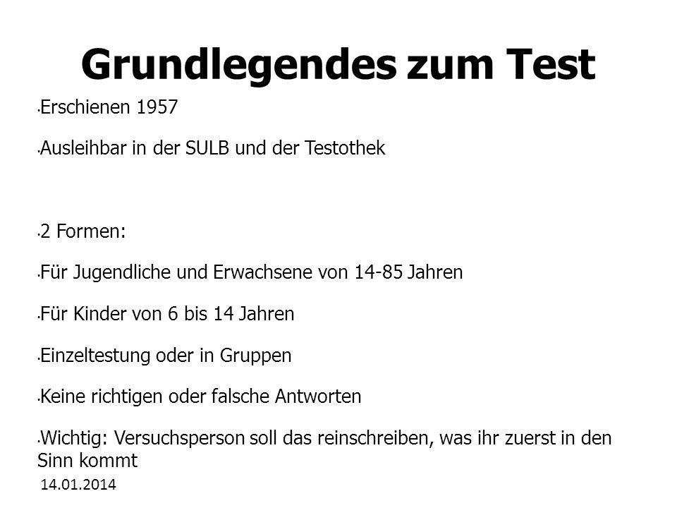 Grundlegendes zum Test