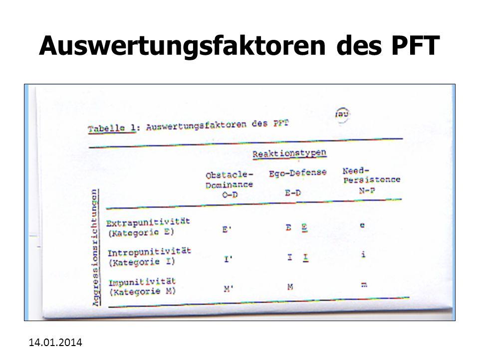 Auswertungsfaktoren des PFT