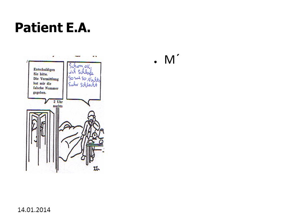 Patient E.A. M´ 27.03.2017