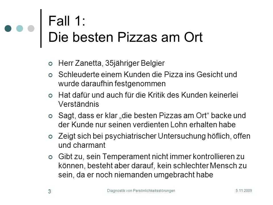 Fall 1: Die besten Pizzas am Ort