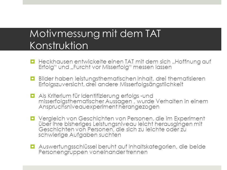 selbstbewertungsmodell von heckhausen