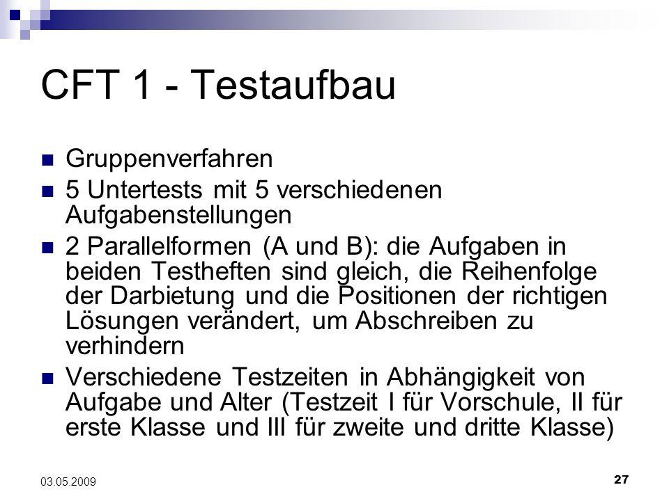 CFT 1 - Testaufbau Gruppenverfahren