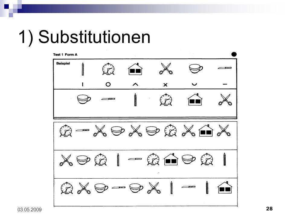 1) Substitutionen